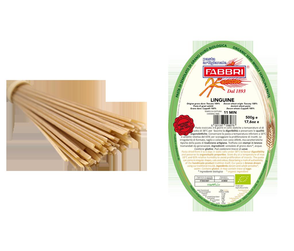 Organic Linguine 100% ancient Cappelli wheat