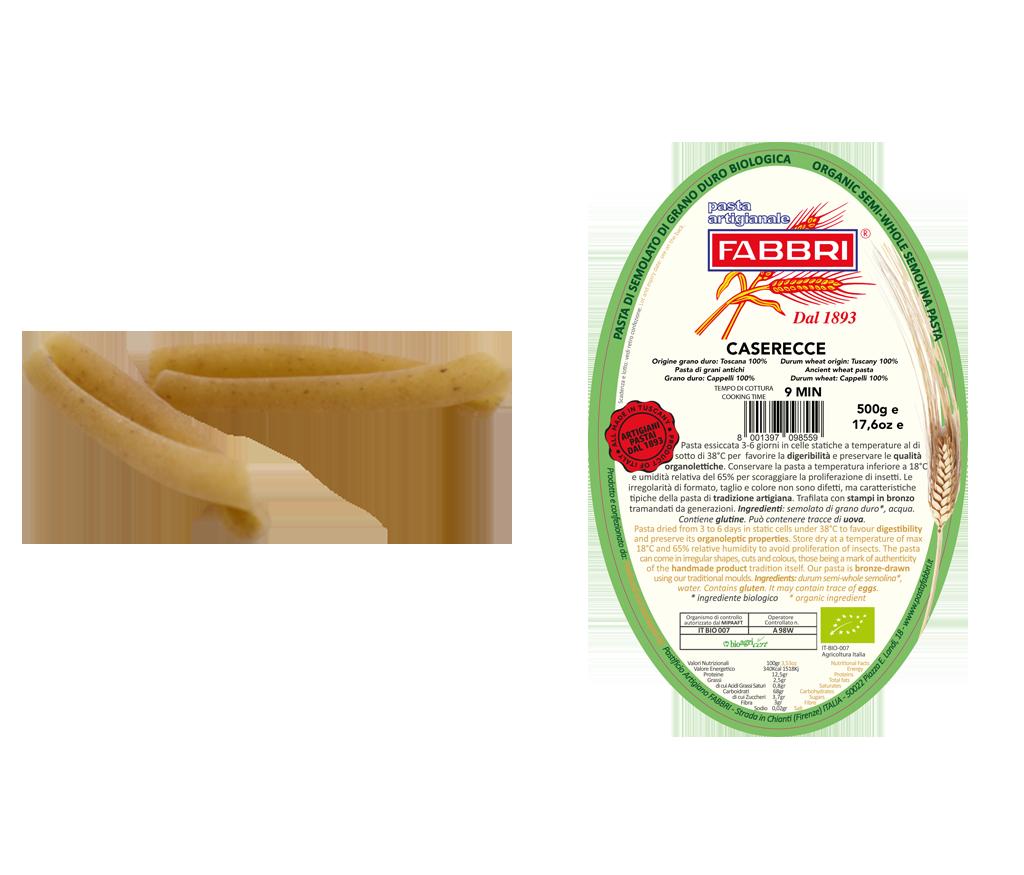 Organic Caserecce 100% ancient Cappelli wheat