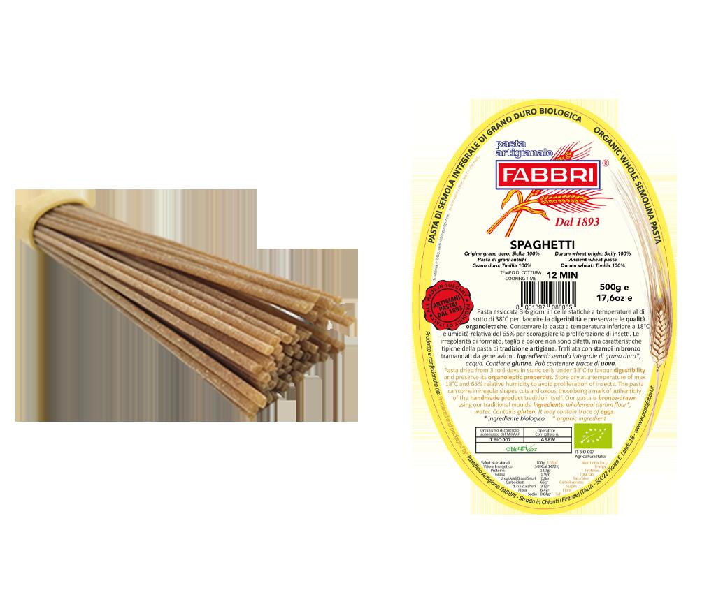 Organic Spaghetti 100% ancient Timilia wheat