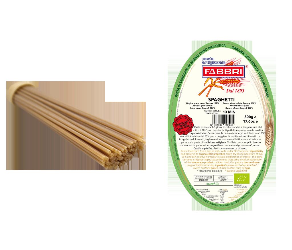 Spaghetti Bio 100% alter Cappelli-Weizen