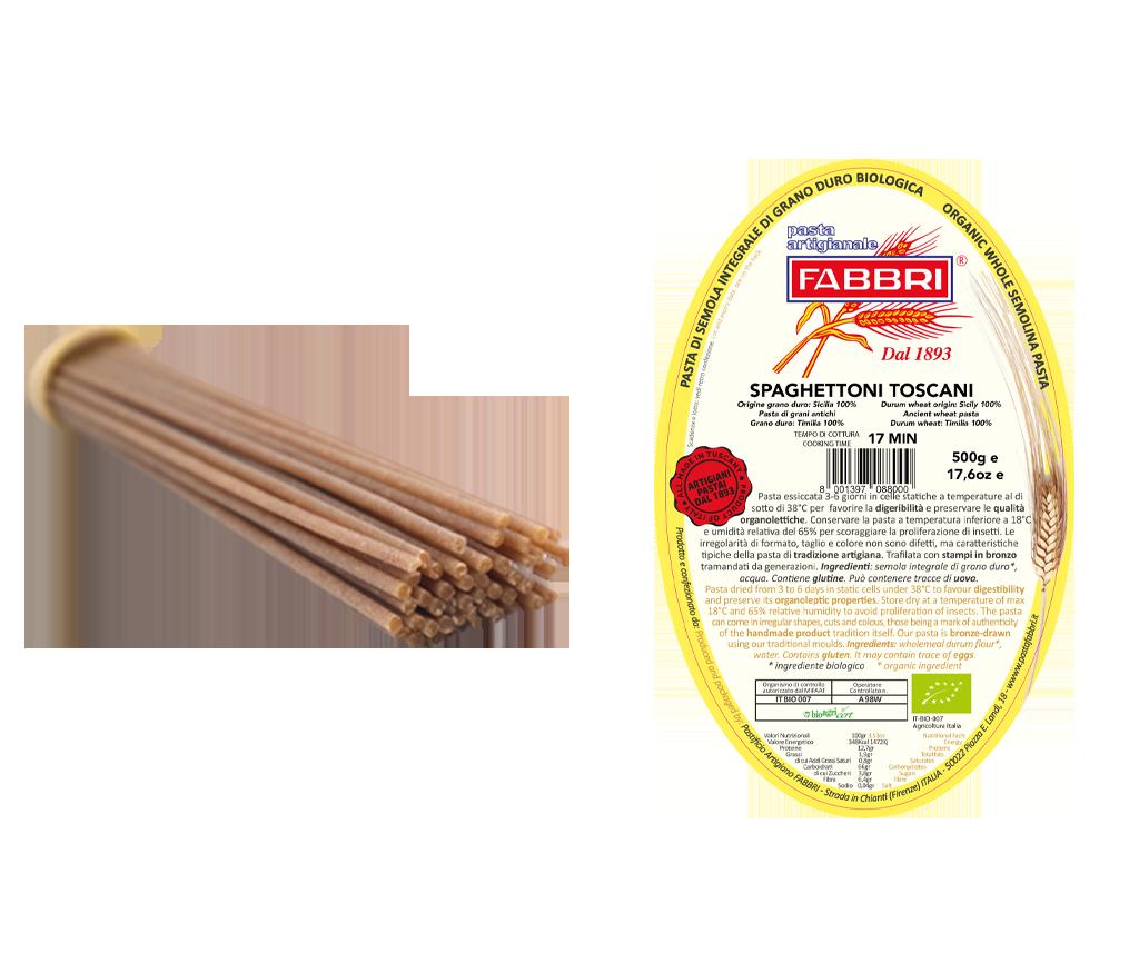 Organic Spaghettoni 100% ancient Timilia wheat
