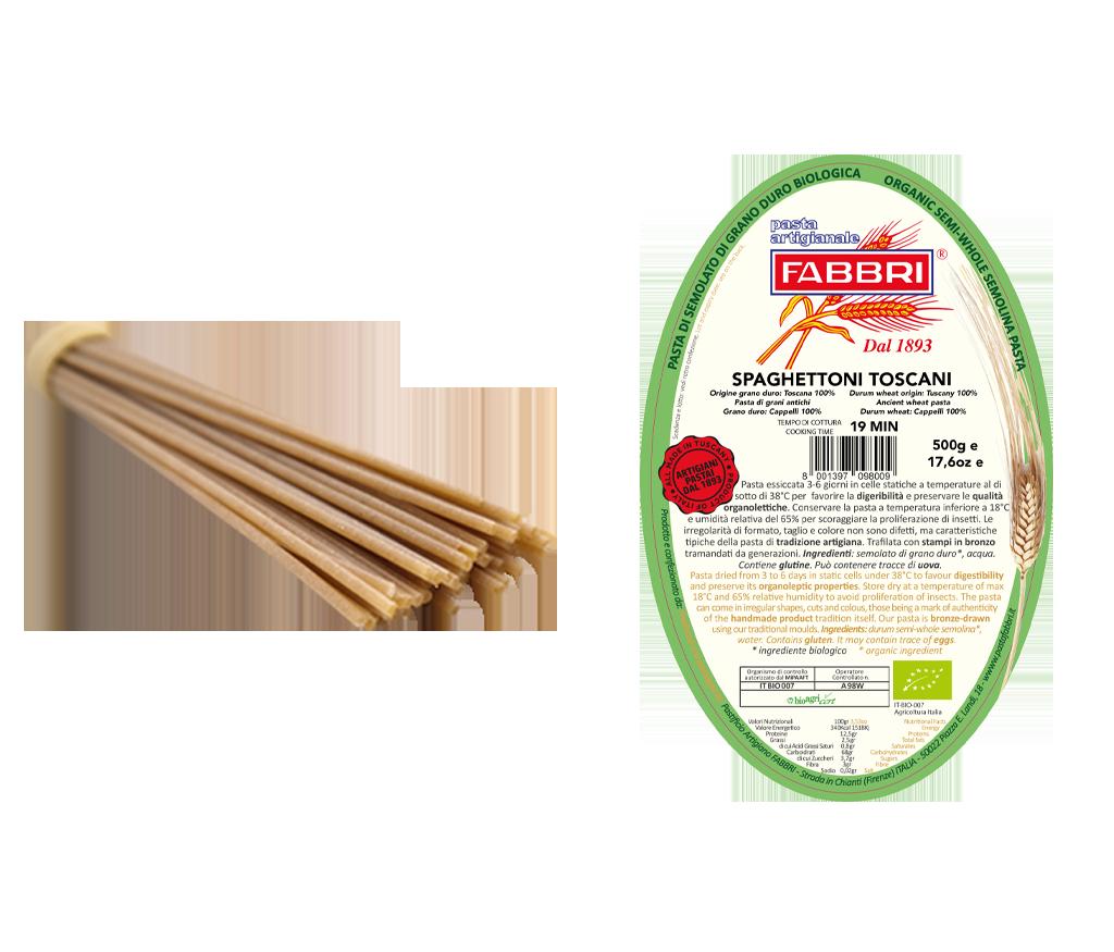 Spaghettoni Toscani Bio 100% alter Cappelli-Weizen