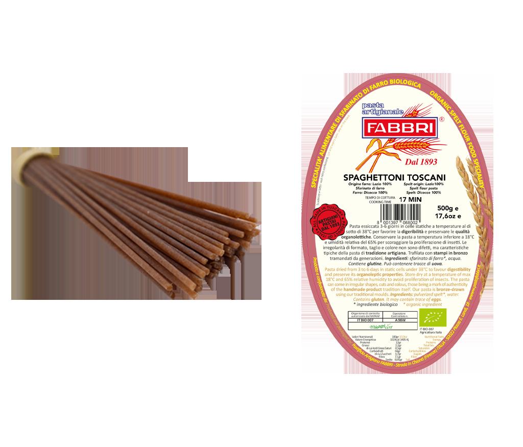 Organic Spaghettoni Toscani 100% Dicocco Spelt