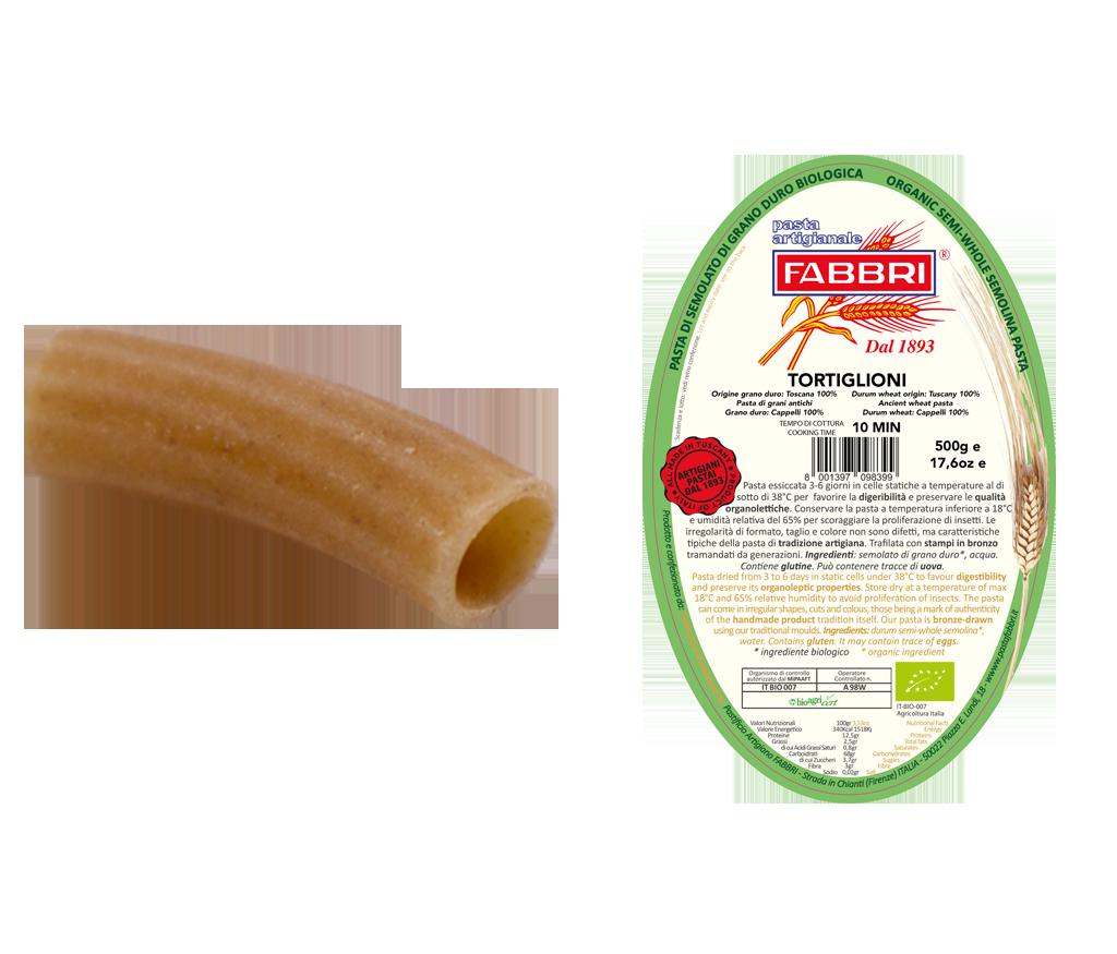 Organic Tortiglioni 100% ancient Cappelli wheat
